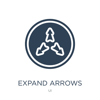 Expand Arrows Icon Vector On White Background Expand Arrows