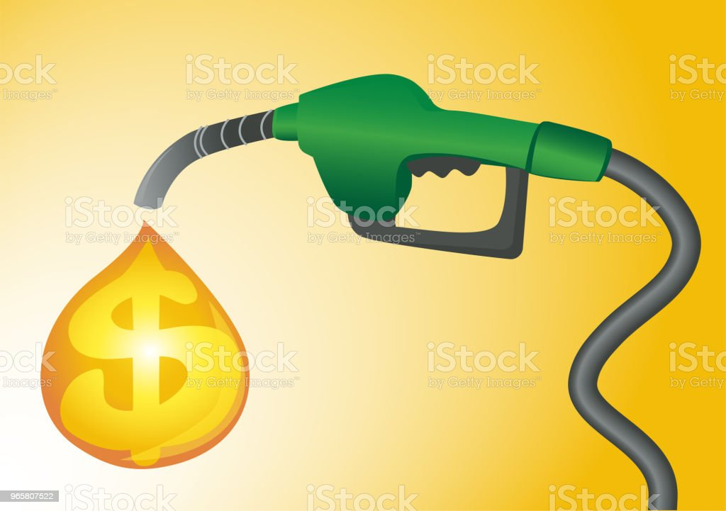 Expensive fuel concept vector. Gas station pump background. - Royalty-free Alcohol - Drink stock vector