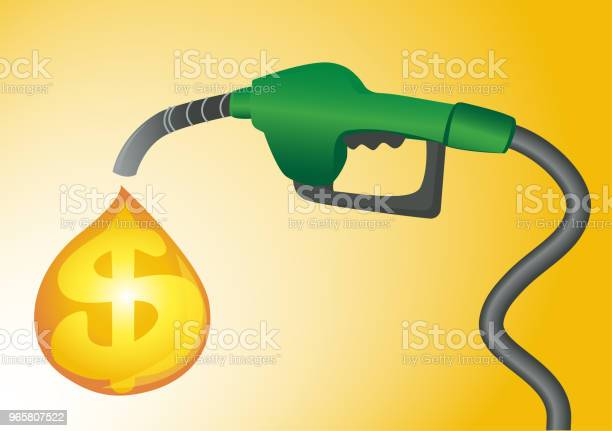 Expensive Fuel Concept Vector Gas Station Pump Background Stock Illustration - Download Image Now