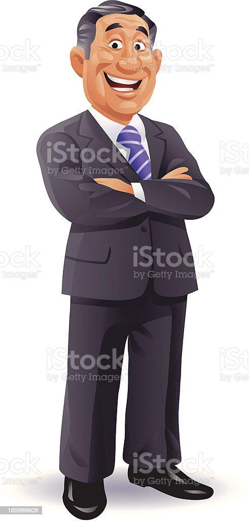 Experienced Businessman vector art illustration