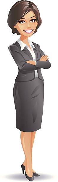 erfahrene geschäftsfrau - chefin stock-grafiken, -clipart, -cartoons und -symbole