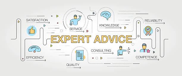 ilustrações, clipart, desenhos animados e ícones de expert advice banner and icons - assistente jurídico