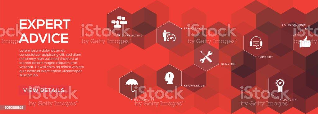 Conselhos de especialistas Banner Design - ilustração de arte em vetor