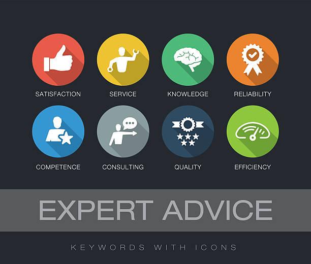 ilustrações, clipart, desenhos animados e ícones de expert advice keywords with icons - assistente jurídico