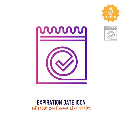 Expiration Date Continuous Line Editable Stroke Line