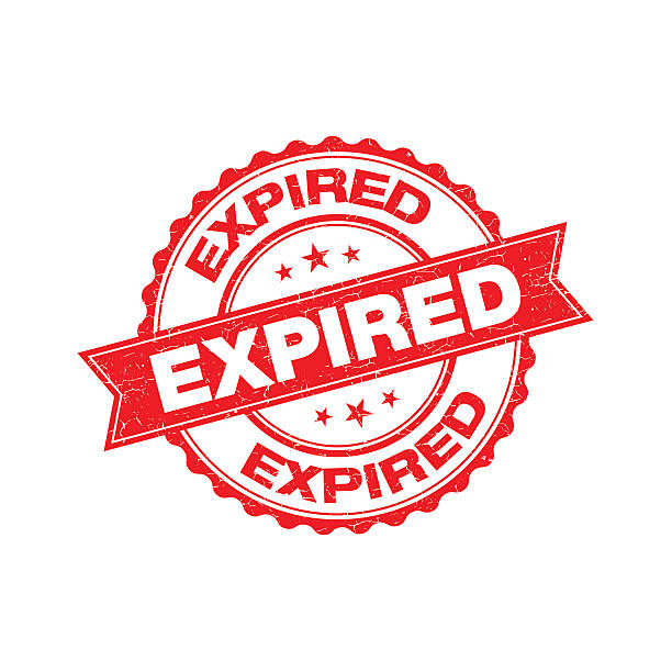 Expired grunge retro isolated stamp Expired grunge retro isolated stamp obsolete stock illustrations