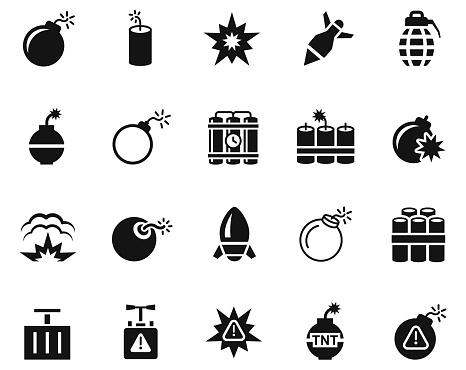 Explode icon set , illustration