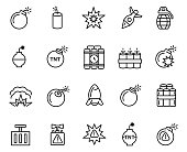 Explode icon set , vector illustration