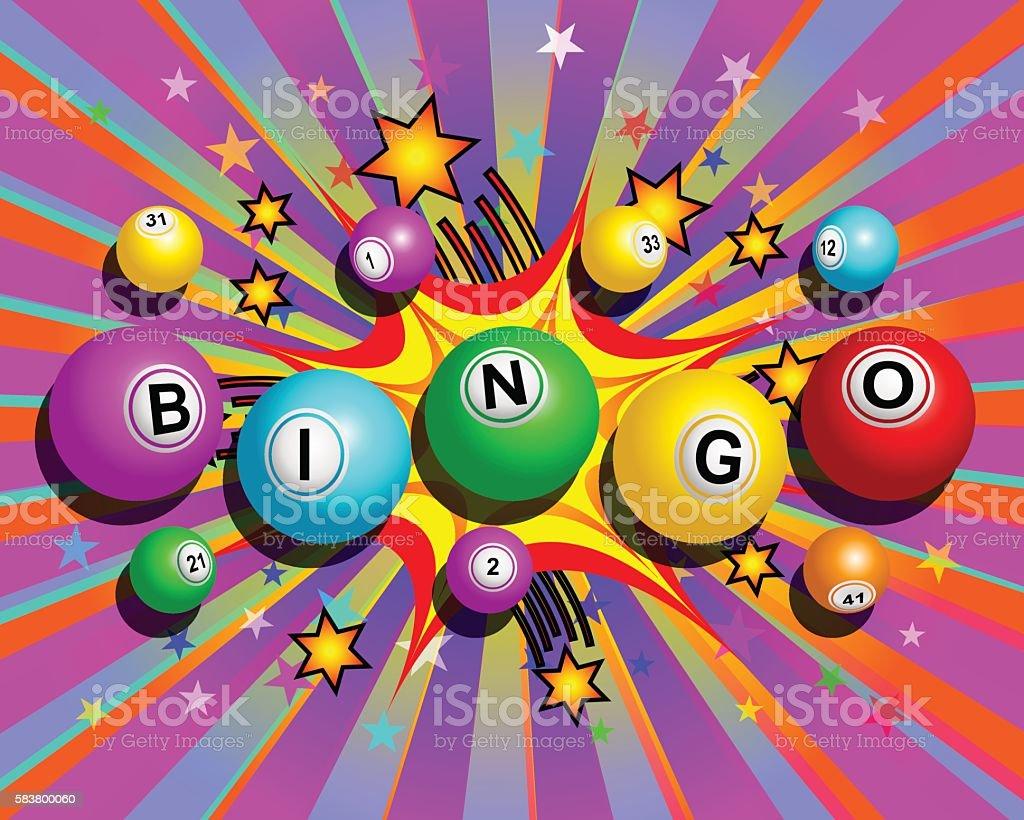 Exploding Bingo Background - ilustração de arte em vetor
