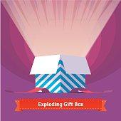 Exploding celebration gift box