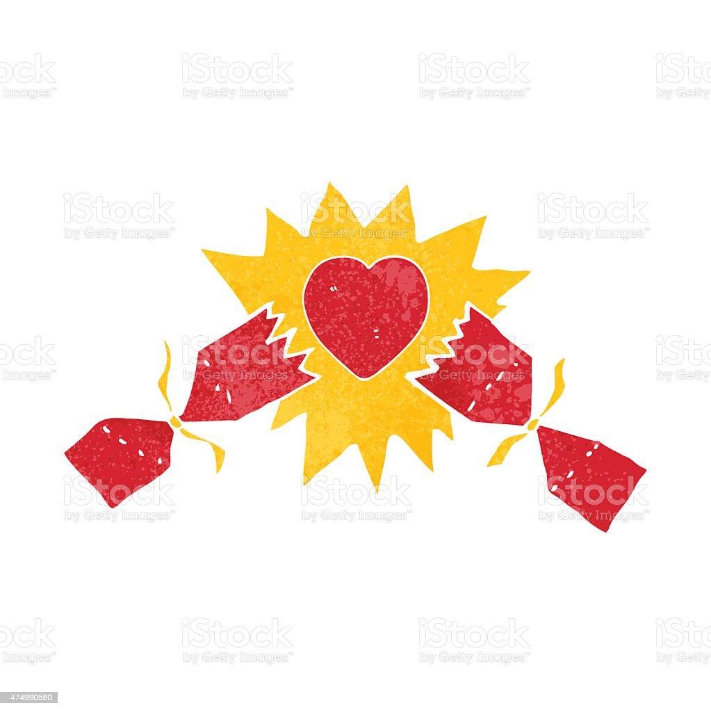 exploding christmas cracker vector art illustration