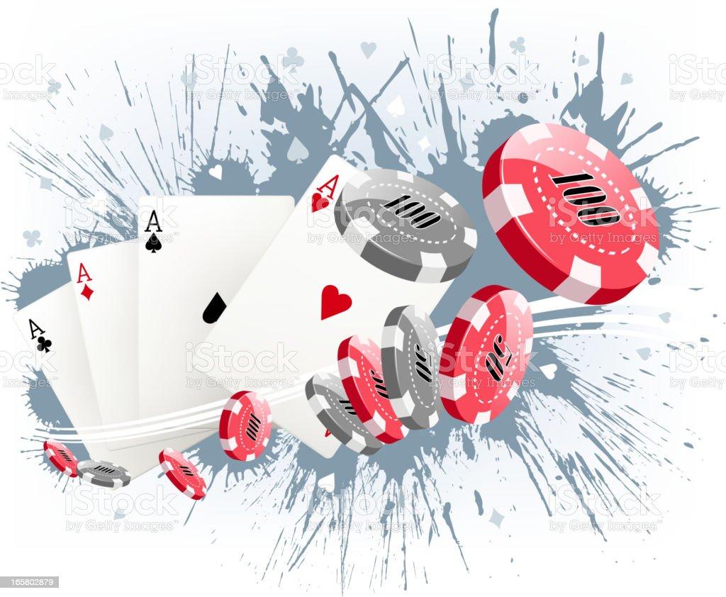 exploding gambling royalty-free stock vector art