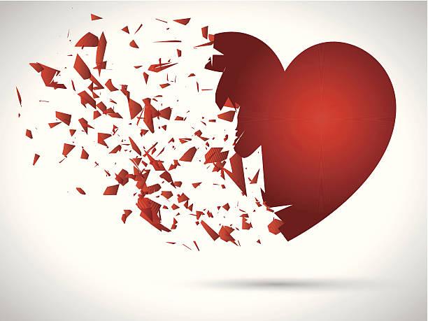 stockillustraties, clipart, cartoons en iconen met exploding heart - liefdesverdriet