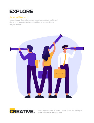 Explore Concept Flat Design for Posters, Covers and Banners. Modern Flat Design Vector Illustration.