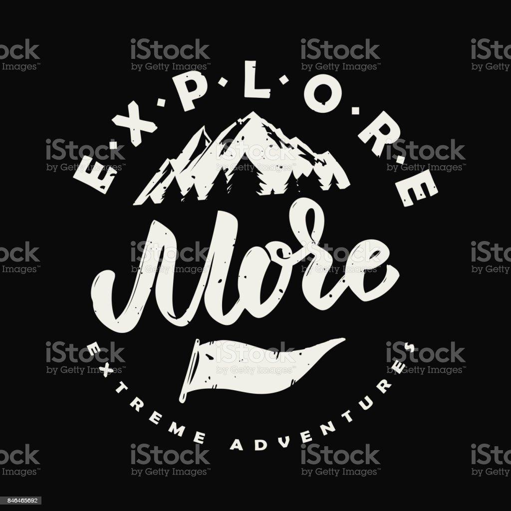 詳細をみる。手には、山のイラストが描かれました。 ベクターアートイラスト