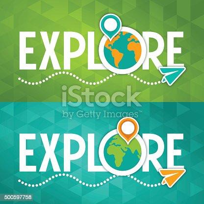 istock Explore Travel Concept 500597758