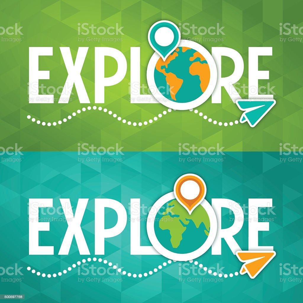 Entdecken Sie reisen Konzept – Vektorgrafik
