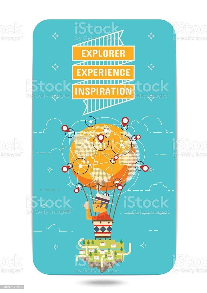 Explorer Experience Inspiration vector art illustration