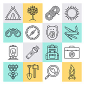 Exploring Motivations & Experiences Outline Style Vector Icon Set