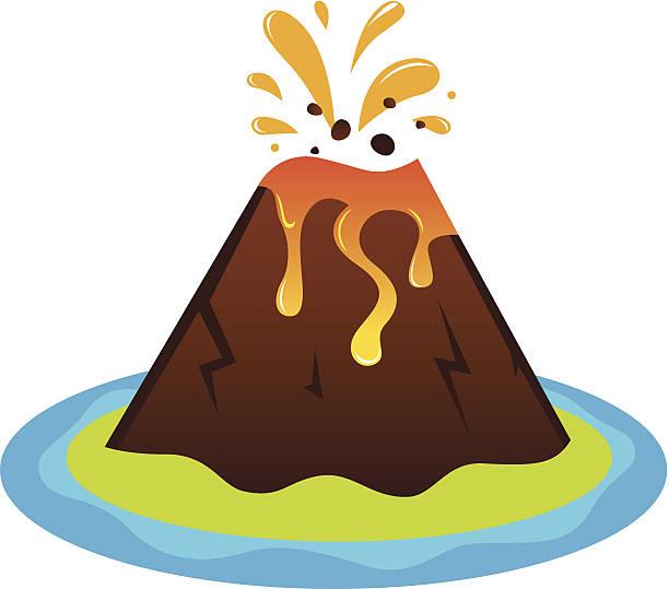 explosing vulkan island, isoliert auf weiss - pompeii stock-grafiken, -clipart, -cartoons und -symbole