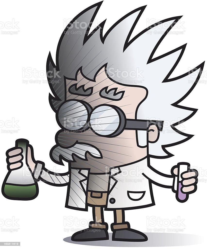 explosion - failed experiment / cartoon scientist royalty-free stock vector art