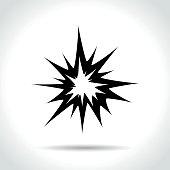 explosion icon on white background