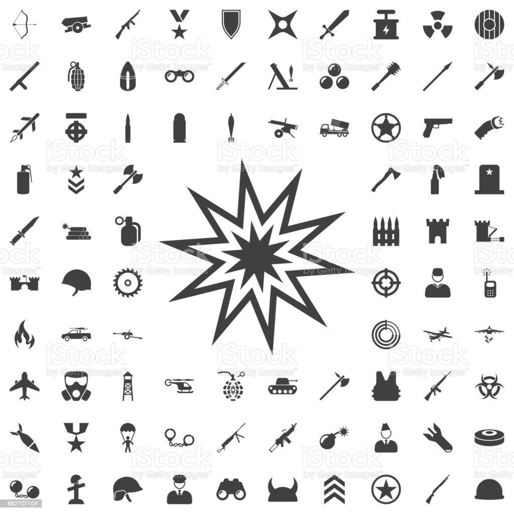 Explosão ícone - ilustração de arte em vetor