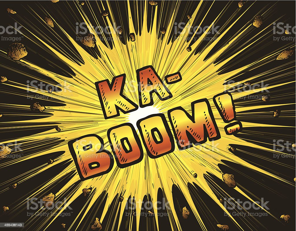 Explosion kaboom royalty-free stock vector art
