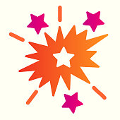 Explosion line icon. Starburst blast shapes. Astronomy vector design concept, outline style pictogram on white background, use for web and app. Eps 10