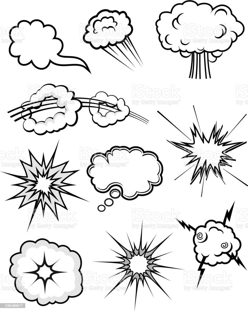 Explosions set royalty-free explosions set stock vector art & more images of abstract
