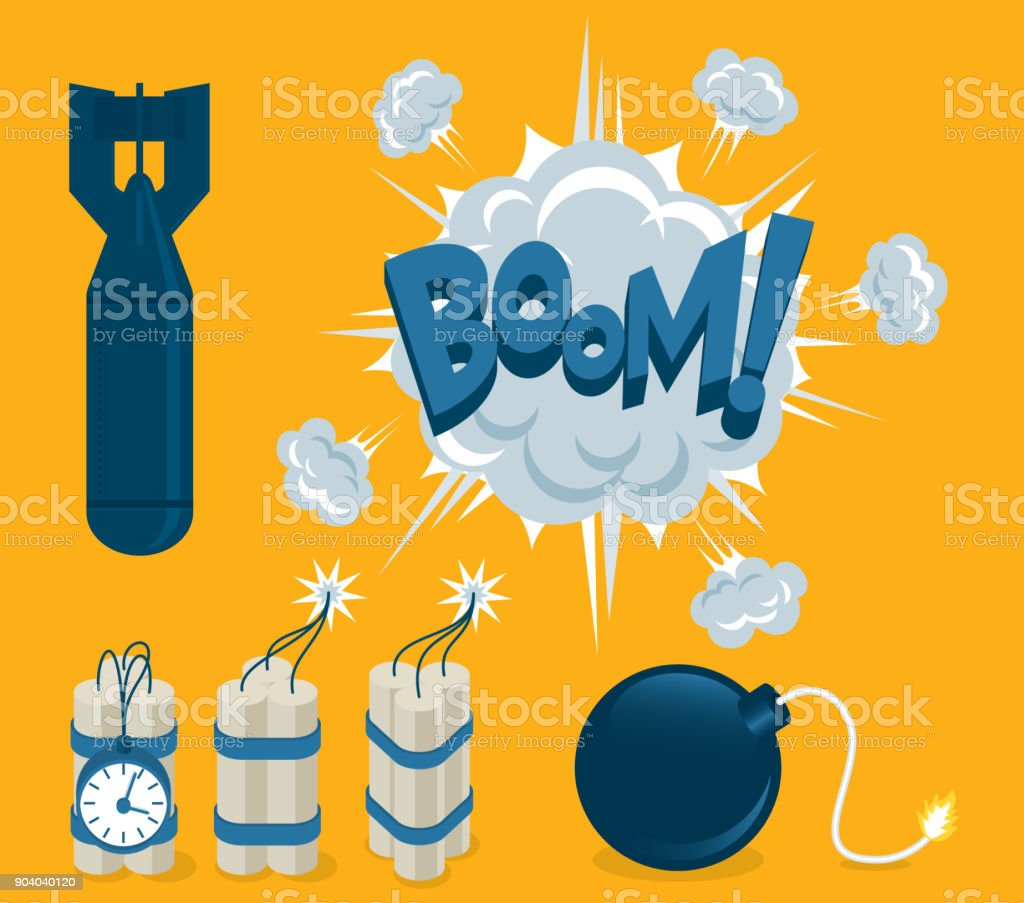 Explosive Elements vector art illustration