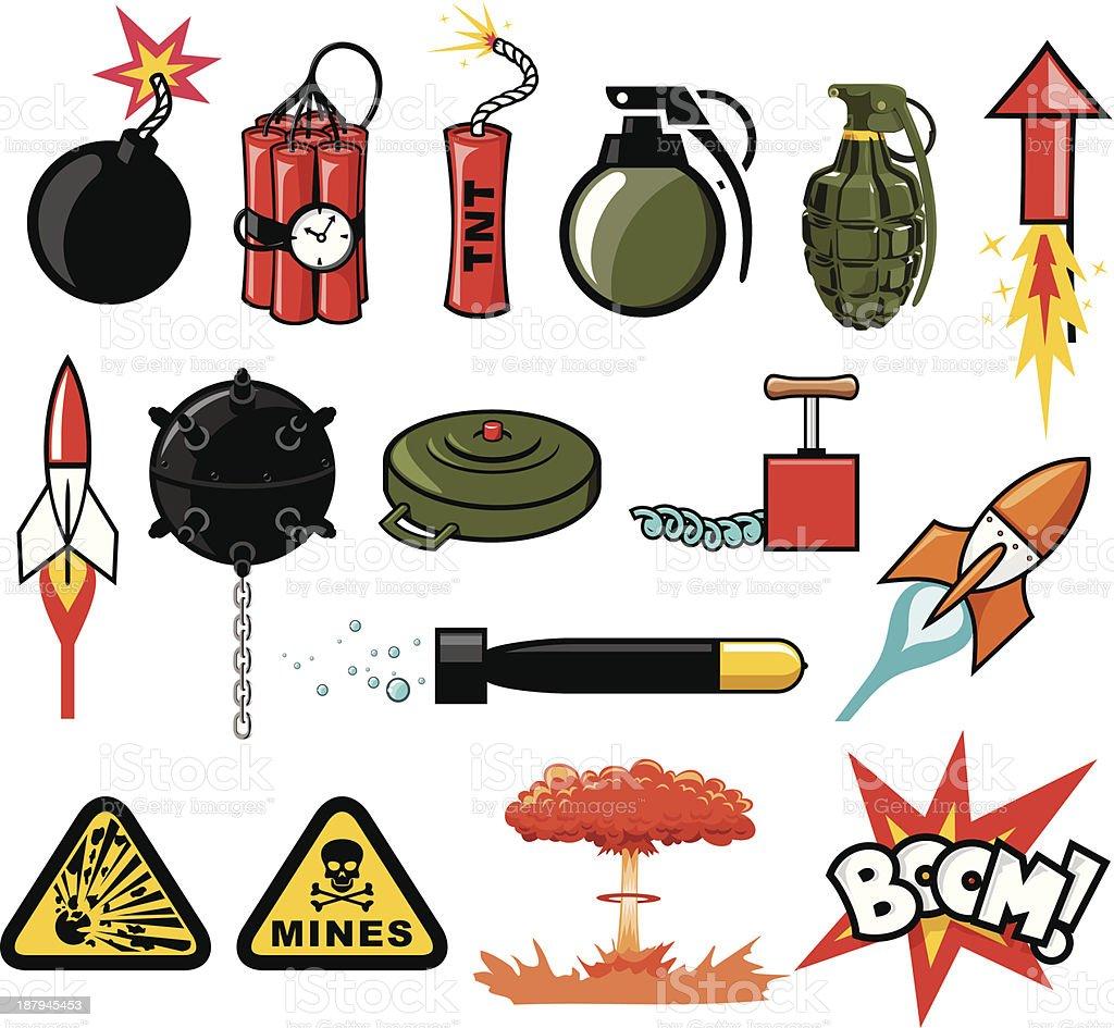 Explosives vector art illustration