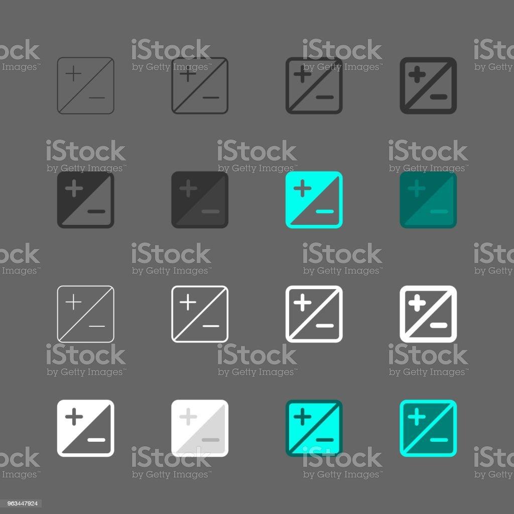 Pozlama telafisi Icon - Multi serisi - Royalty-free App Vector Art