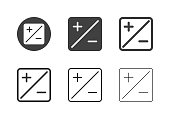 Exposure Compensation Icons Multi Series Vector EPS File.