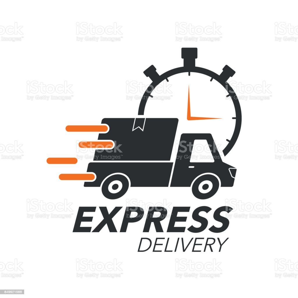 Express Delivery Icon Concept Pickup With Stop Watch Icon ...