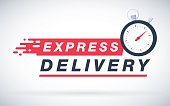 Express delivery icon for apps and website. Delivery concept. Vector illustration. Flat design.