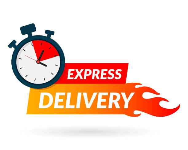 Express delivery icon for apps and website. Delivery concept. Vector illustration. Flat design. vector art illustration