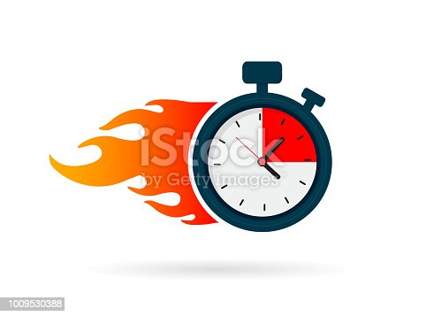 Express delivery icon for apps and website isolated on white background.