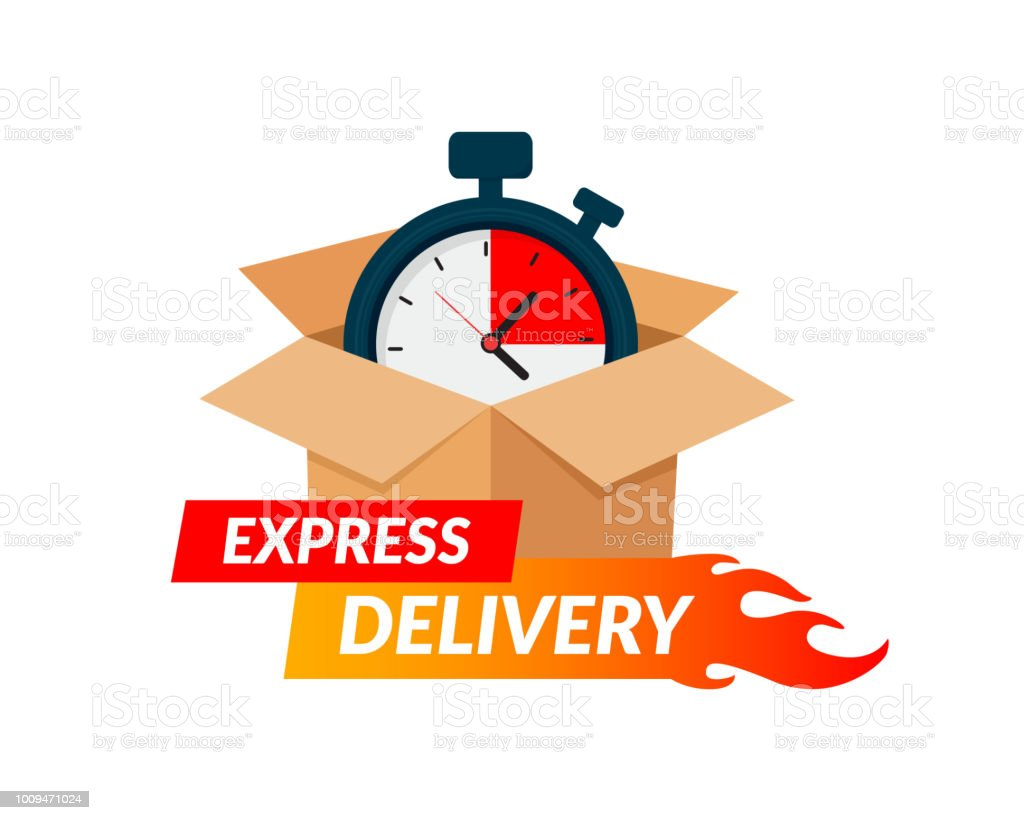 Express Delivery Icon For Apps And Website Stopwatch In