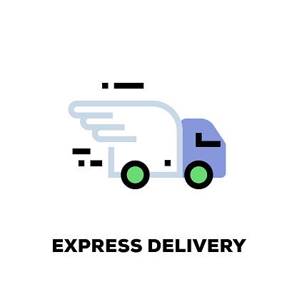 Express Delivery Line Icon