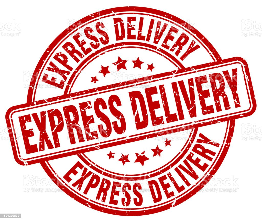 express delivery red grunge round vintage rubber stamp royalty-free express delivery red grunge round vintage rubber stamp stock vector art & more images of backgrounds