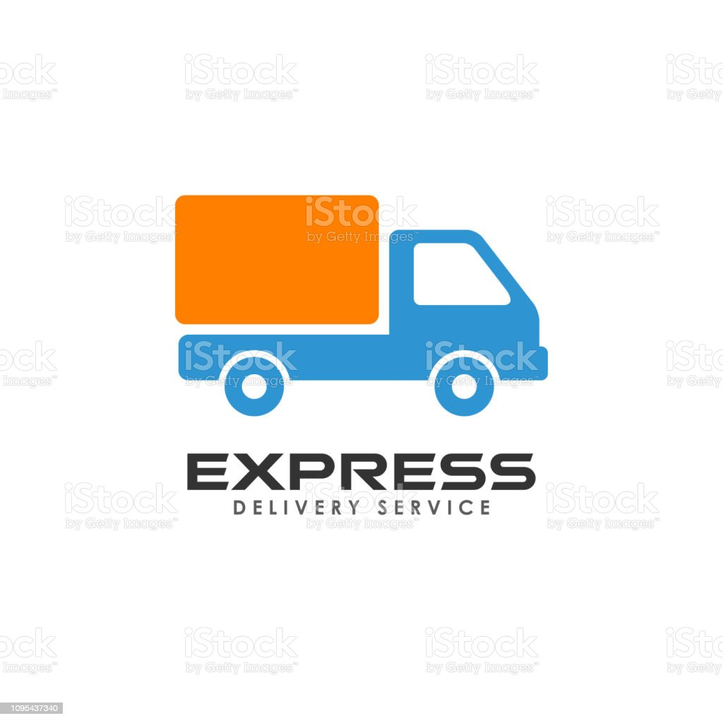 Express Delivery Services Logo Design Courier Logo Design Template Stock  Illustration - Download Image Now - iStock