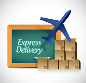 Express delivery shipping concept illustration