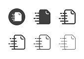Express Document Icons Multi Series Vector EPS File.