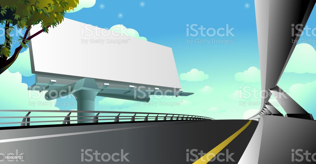 Express Highway Billboard royalty-free stock vector art