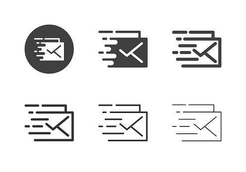 Express Mail Icons - Multi Series