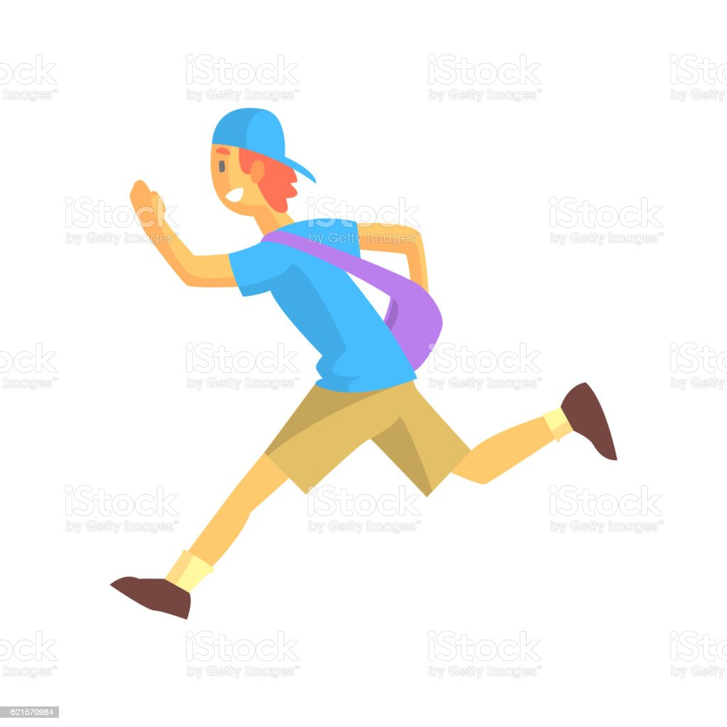 Express Mail Postman Guy Running express mail postman guy running – cliparts vectoriels et plus d'images de adulte libre de droits