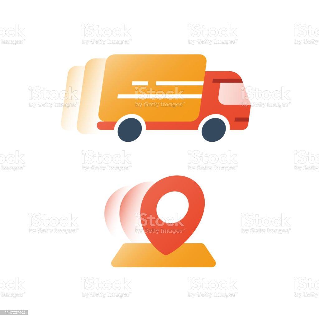 96b9a737c25bdf Commande Dexpédition Express Camion En Mouvement Services De ...