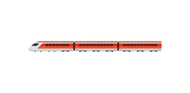 illustrations, cliparts, dessins animés et icônes de train express pour les passagers de l'aéroport. train électrique. transports en commun. élément de vecteur plat mobile app ou promo la bannière - train