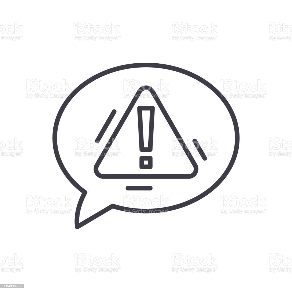 Expressing caution black icon concept. Expressing caution flat  vector symbol, sign, illustration. royalty-free expressing caution black icon concept expressing caution flat vector symbol sign illustration stock vector art & more images of art